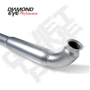 "01-07 Diamond Eye GMC/Chevy Duramax Diesel 4"""" """"QT""""Resonated Down Pipe Exhaust AL"