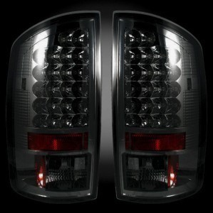 02-06 DODGE RAM 1500 2500 RECON LED TAIL LIGHTS SMOKED