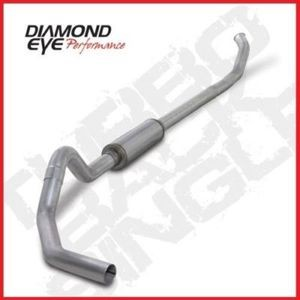 "03-04 Diamond Eye Dodge Diesel 4""""Turbo Back Single Exhaust System No Muffler SS"