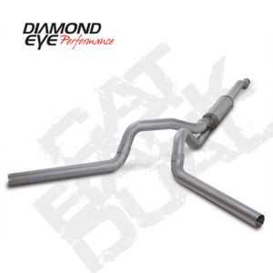 "03-07 Diamond Eye Ford Power Stroke 4"""" Cat Back Dual Exhaust System AL -No Muff-"