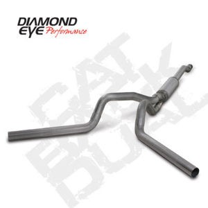 "03-07 Diamond Eye Ford Power Stroke 4"""" Cat Back Dual Exhaust System SS_ No Muff_"