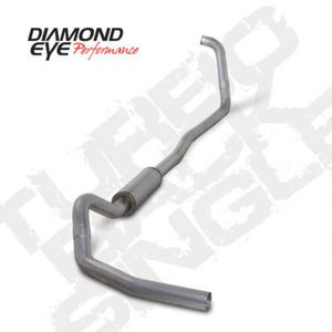 "03-07 Diamond Eye Ford Power Stroke 4"""" Turbo Back- Off Road- Exhaust System SS"
