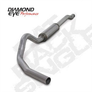 "03.5-07 Diamond Eye Ford Power Stroke 4"""" Cat Back Single Exhaust Kit SS No Muff"