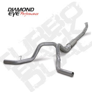 "04.5-07 Diamond Eye Dodge 5"""" Turbo Back Dual 4""""Tailpipes & Downpipes No Muff AL"