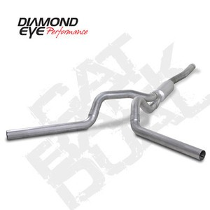 "06-07 Diamond Eye GMC/Chevy Duramax Diesel 4"""" Cat Converter Back Dual Exhaust AL"