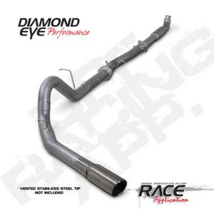 "07.5-10 Diamond Eye GMC/Chevy 4"""" D.P.F """"QT"""" Delete Single Exhaust C.C.S.B NB SS"