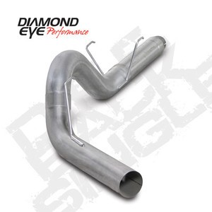 "07.5-11 Diamond Eye Dodge Cummins 5"""" DPF  Back Single Performance Exhaust  AL"
