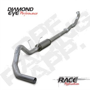 "07.5-11 Diamond Eye Dodge Diesel 4"""" DPF Turbo Back""""QT"""" Exhaust W/Flanges T409 SS"