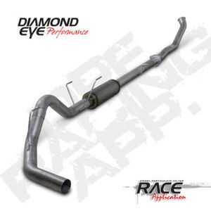 "07.5-11 Diamond Eye Dodge Diesel 4"""" DPF Turbo Back- Exhaust  W/Bungs &Flanges SS"