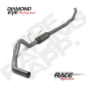 "07.5-11 Diamond Eye Dodge Diesel 4"""" DPF Turbo Back-Single Exhaust  W/Bungs AL"
