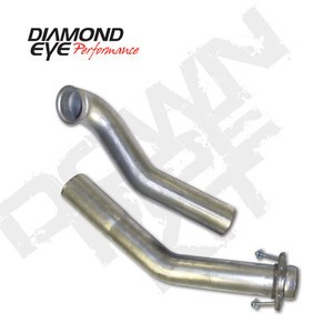 "94-97 Diamond Eye Ford Power Stroke 3"""" 2 Piece Down Pipe Kit T409 SS Exhaust"
