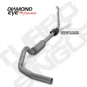 "94-97 Diamond Eye Ford Powerstroke 4"""" Turbo Back Single Exhaust 3"""" Down Pipe AL"