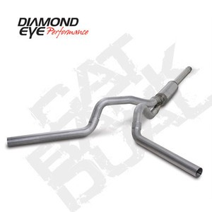 "94-97 Diamond Eye Ford Powerstroke Truck 4"""" Cat Back Dual Exhaust System AL"