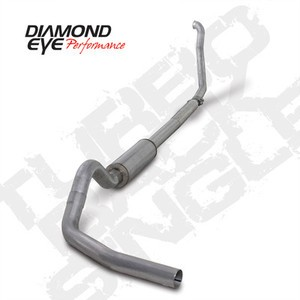 "94-97 Diamond Eye Ford Truck 4""""Turbo Back Exhaust 3"""" Downpipe W/Off Road Pipe SS"
