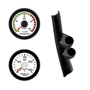 Dodge Cummins Diesel Pyro Trans Isspro EV2 White Face/Red Pointer 2 Gauges Kit