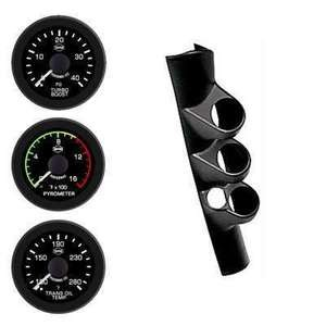 Dodge Cummins Diesel W/Speaker Isspro EV2 Black Face/White Pointer 3 Gauges Kit