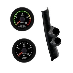 Dodge Diesel Trans Temp Pyro 98-02 Isspro EV2 Black Face/Red Pointer 2 Gauge Kit
