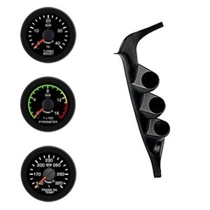 Ford 97-01 Pyro/EGT Boost Trans Isspro EV2 Black Face/Red Pointer 3 Gauges Kit