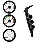 Ford 97-01 Pyro/EGT Trans Boost Isspro EV2 White Face/Red Pointer 3 Gauges Kit