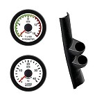 Ford Diesel 99-07 Pyro Boost Isspro EV2 LED White Face/Red Pointer 2 Gauges Kit