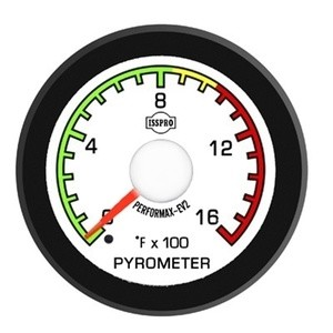 Ford Diesel Truck 92-97 Pyro Boost Pr EV2 White Face/Red Pointer 2 Gauges Kit