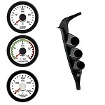 Ford Diesel Truck 92-97 Pyro Boost Trans EV2 White Face/Red Pointer 3 Gauges Kit