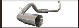 "Ford Power Stroke Diesel 6.0 L 03-07 Turbo Back 4"""" Aluminized Exhaust System!"