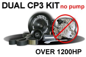 Industrial Injection Duel Twin CP3 Pump kit W/out Pump Dodge Cummins Truck 03-07