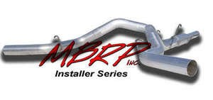 "MBRP 04.5-07 Dodge Ram 4"""" Cat Back,Dual Exhaust System (4WD Only) AL With Tips"