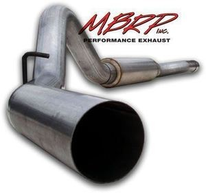 MBRP 06-07GMC/Chevy Duramax Truck EC/CC Cat Back, Single Side Exhaust System AL