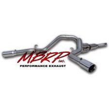 MBRP 07.5-10 GMC/Chevy Duramax Truck Filter Back Dual Exhaust System T409 SS