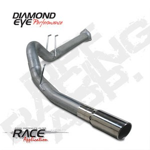 "2011  Diamond Eye Ford Power Stroke 4"""" DPF  Back Single Kit  Exhaust  W/Tip SS"