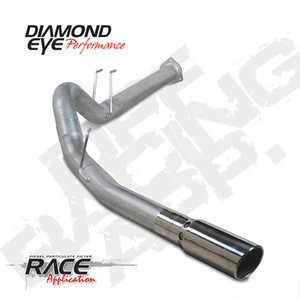 "2011  Diamond Eye Ford Power Stroke 4"""" DPF  Back Single Kit  Exhaust  W/Tip AL"
