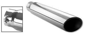 "STAINLESS EXHAUST TIP 4"""" TO 5"""" BOLT ON SLANT CUT FORD DODGE CHEVY 12"""" LONG"